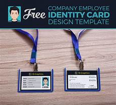 employee id card template ai free free company employee identity card design template one