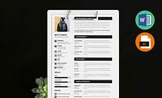 minimal resume template word ai and eps by resummme com