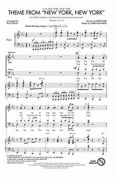 theme from quot new york new york quot sheet music mac huff satb choir
