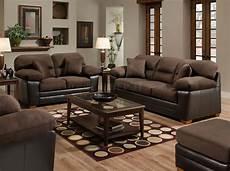 brown godiva microfiber sofa loveseat set w accent pillows
