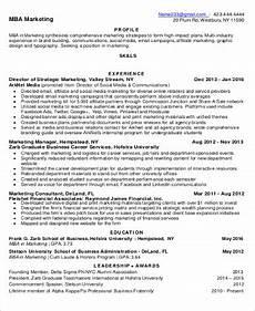 sle mba resume 7 exles in word pdf