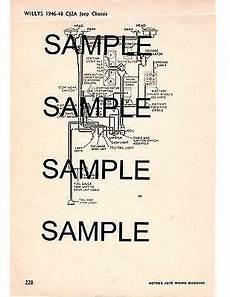 1948 jeep wiring diagram 1946 1947 1948 willys jeep cj 2a cj2a cj 2a wiring diagram chart ebay