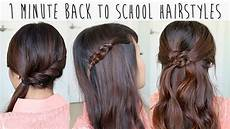 1 minute back to school hairstyles for medium hair tutorial youtube