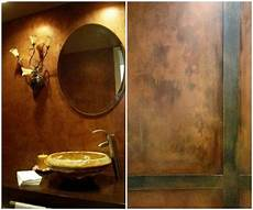 wall finish ideas with the metallic color copper modern