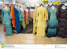 Colorful Collection Of Muslimah Clothes Editorial Photo