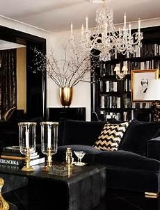 Home Decor Ideas Black And White by Black Gold And White Interior Design Decor Ideas