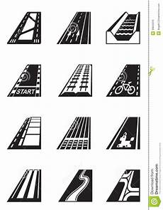 Different Types Of Roads Stock Vector Illustration Of