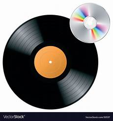 vinyl record with cd royalty free vector image