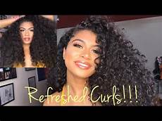 how i refresh my curly hair before wash day and way after wash day youtube
