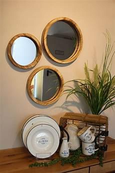 runde spiegel runde spiegel mit holzrahmen in 2020 spiegel holzrahmen