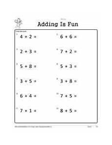 addition worksheets horizontal 8877 1 digit addition worksheets
