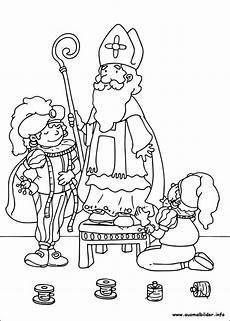 Ausmalbilder Hl Nikolaus Sankt Nikolaus Malvorlagen