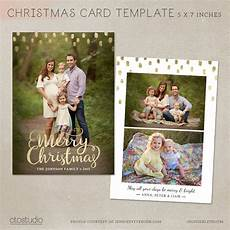 Etsy Photo Card Templates Card Template Photoshop Template 5x7 Flat Card