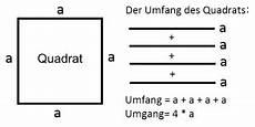 der umfang quadrat rechteck und parallelogramm
