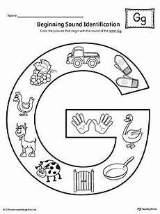 worksheets letter g kindergarten 24214 letter g beginning sound color pictures worksheet letter g activities letter g crafts lettering