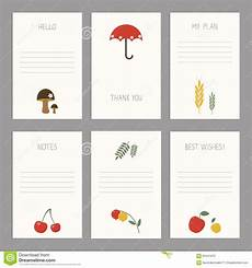 thank you card editable template set of vintage cards templates editable stock vector
