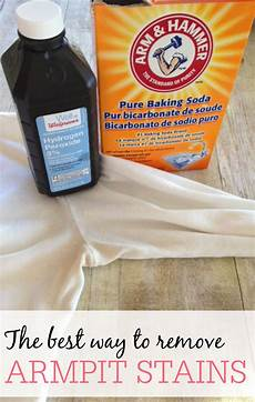 the best way to remove armpit stains frugally