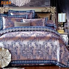 luxury embroidery tencel satin silk bedding bedclothes bed linen sheet full queen king