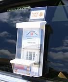 Auto Outdoor Brochure & Business Card Holders Realtors  EBay
