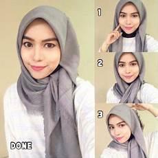 Tutorial Segi Empat Simple Zaskia Sungkar Ragam Muslim