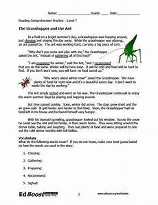 reading comprehension 3rd grade fables edboost