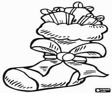 coloring pages santa boots santa s boot with ribbon and