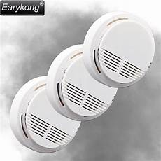3pcs 433mhz Wireless Smoke Detector by New Earykong 433mhz Wireless Smoke Detector 3pcs Lot
