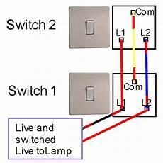 two way light switching light fitting