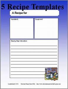 recipe writing templates recipes recipe cards and
