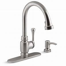 kohler kitchen faucets home depot kohler carmichael single handle pull sprayer kitchen faucet in stainless steel k r72512 sd