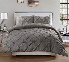 3 piece luxurious pinch pleat decorative pintuck comforter highest quality wrinkle
