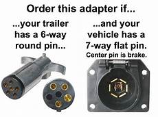 7 way flat to 6 way connector adapter center is brake adapters wiring