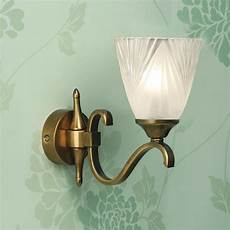 etched glass art deco wall light