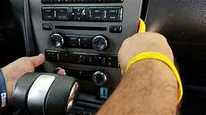 how to remove radio cd player from ford mustang 2012 for