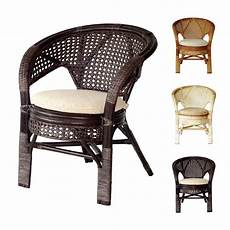 Rattan Kitchen Furniture Pelangi Rattan Wicker Dining Lounge Chair W Cushion Ebay