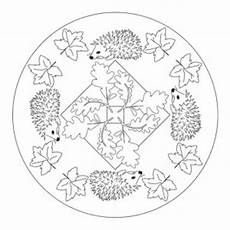 Ausmalbilder Herbst Mandala Autumn Mandala Coloring Page For Crafts And