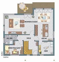 Beispiel Grundriss Eg Mit Arbeitszimmer Haus Haus