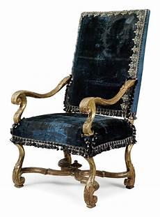A Louis Xiv Giltwood Fauteuil Circa 1700 Fauteuil