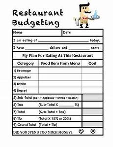 budgeting worksheets year 5 this is a budgeting worksheet for trips to restaurants in