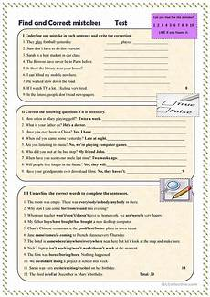 correcting spelling mistakes worksheets 22482 find and correct mistakes test worksheet free esl printable worksheets made by teachers