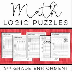 logic puzzle worksheets 5th grade 10845 math logic puzzles 4th grade enrichment by howe tpt