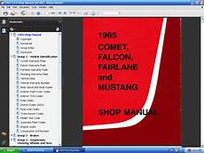 service and repair manuals 1965 ford mustang electronic throttle control forel publishing llc 1965 comet falcon mustang shop manual digital