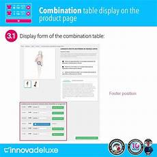 product data sheet with combination table prestashop addons