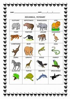 zoo animals pictionary worksheet free esl printable worksheets made by teachers