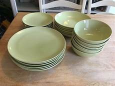 Ikea Green 6 Person Dinner Set Plates And Bowls In