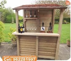 bar para jard 237 n prefabricada con tablillas de madera