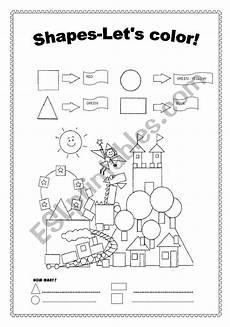 color worksheets esl 12982 shapes color and count esl worksheet by jupink