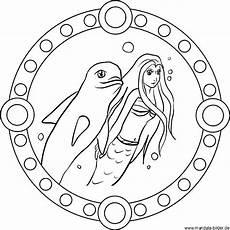 Malvorlage Meerjungfrau Delfin Delphin Mandala Imagui