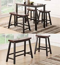 Dining Table With Stools by Espresso Wooden Rectangular Counter Height Dining Kitchen