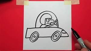 How To Draw A Cartoon Race Car  YouTube